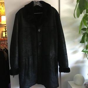 Andrew Marc 100% Shearling Lamb Fur Coat Size XL